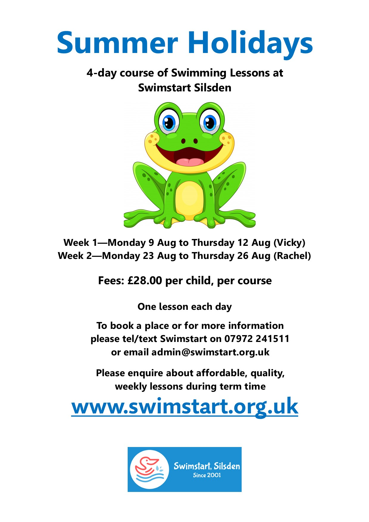 End of Term draws near – Booking for Summer Holiday Courses now open!